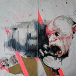 die-hard (ape_man_kind) - diverse Materialien auf Bütten 28x38cm (2012-13)