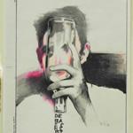 die Flasche ist leer - Buntstift auf Papier 29x21cm (2013)