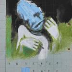 tenemos papa - Bunstift & Tape auf Papier 29x21cm (2013)