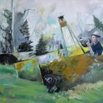 Halali 140 x 170cm Öl auf Leinwand (2011)