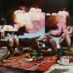 das Picknick 140 x 170cm Öl auf Leinwand (2011)